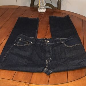 Levi's 514 -42 x 32 dark blue jeans black label